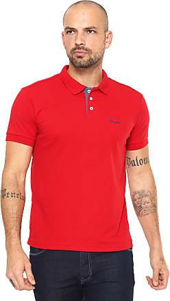 Wrangler Camisa Polo Wrangler Reta Wrangler Vermelha