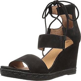 Frye Womens Roberta Ghillie Wedge Sandal, Black, 9.5 M US