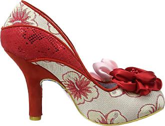 Irregular Choice Womens Peach Melba Closed-Toe Heels, Red (Red/Pink), 4 UK 37 EU