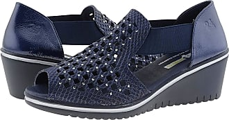 24 Horas 24 Hours 24445 Leather Crab Shoes for Women Size: 3 Color: Navy