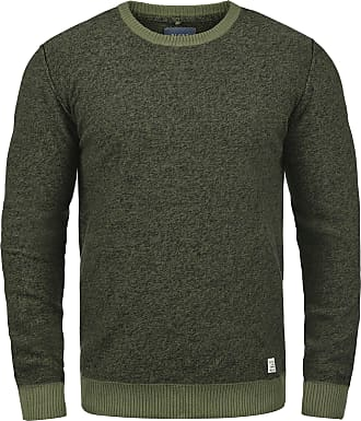 Blend Nathan Mens Jumper Knit Pullover with Crew Neck Made of 100% Cotton, Size:XXL, Colour:Burnt Olive (77011)