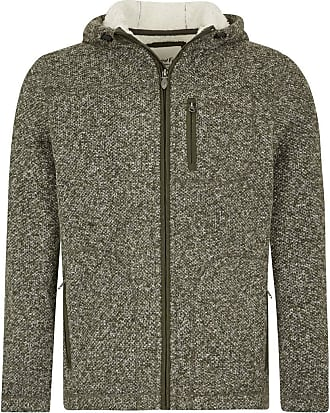 Weird Fish Leckie Plain Bonded Fleece Jacket Dark Olive Size L
