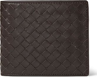 Bottega Veneta Intrecciato Leather Billfold Wallet - Brown