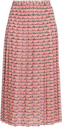 adac37be37627 Red Valentino Redvalentino Woman Printed Silk-blend Midi Skirt Baby Pink  Size 40