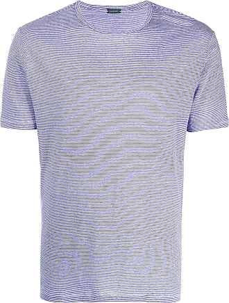 Zanone striped fitted T-shirt - Blue