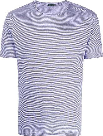 Zanone Camiseta slim listrada - Azul