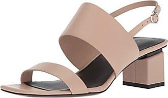 Via Spiga Womens Forte Block Heel Sandal, Sand Leather, 7.5 M US