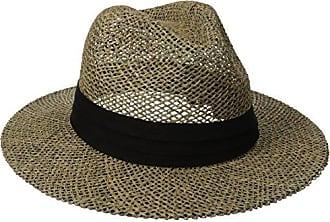 San Diego Hat Company San Diego Hat Co. Mens Black Seagrass Panama Fedora  Hat with 64ea3575c5e5