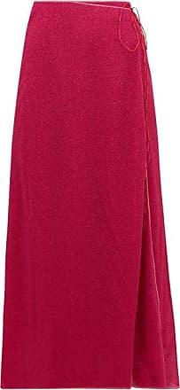 Oséree Lumière Lamé Wrap Skirt - Womens - Dark Pink