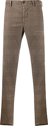 Incotex check slim fit trousers - NEUTRALS