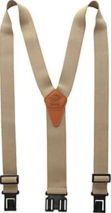 Dickies Heavy Duty Clip Suspenders - Mens Adjustable Y Back Straps with Clips for Work Pants,Beige,One sizee