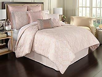 Ellery Homestyles Beautyrest Montreal 4-Piece Comforter Set, Queen, Blush