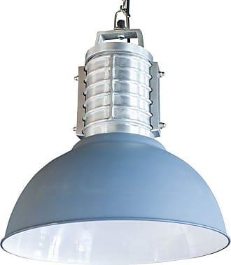 PIB Réalisée en aluminium brossé et peint, la grande suspension industrielle Friedler affiche une bel