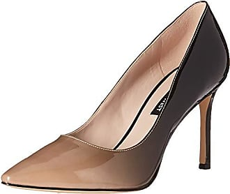 Nine West Womens EMMALA Synthetic Pump, Light Natural Black, 10 M US