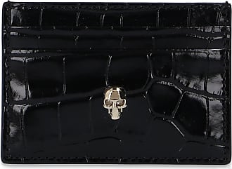 Alexander McQueen Skull Card Case Womens Black