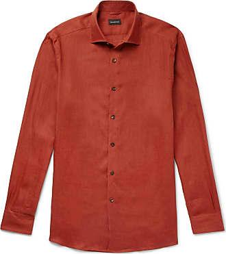 Ermenegildo Zegna Linen Shirt - Brick
