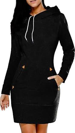 Isshe Sweatshirt Hoodies for Women Long Hoodie Sweatshirts Jumper Womens Womens Pullover Hooded Oversized Sweatshirt Dress Long Sleeve Hoodies Plain Soft Co