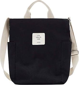 Yidarton Women Canvas Tote Bag Shopping Handbag Shoulder Cross Body Bag Ladies Casual Chic Bags(bk)