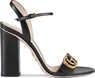 Gucci Sandália de couro - Preto