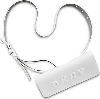 DKNY Womens WHITE 100% Leather BELTED FANNY PACK Purse, Bag, Case, Gromit, NEW