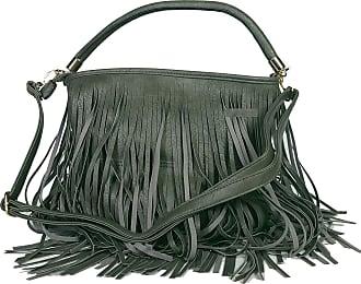 GFM Faux Leather Tassel Bag With Soft Fringes on Both Sides Shoulder bag (F1618-GHBH)