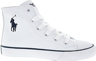 Ralph Lauren Polo White Navy Marson High Top Sneakers UK 13 EUR 31