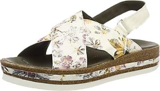 Think Womens Zega_484386 Sling Back Sandals, (Ivory/Kombi 94), 6.5 UK