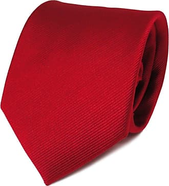 TigerTie Designer Satin silk tie in red fire-red monochrome Rips - tie necktie silk