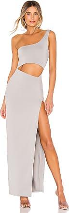 Superdown Erla Cutout Maxi Dress in Gray