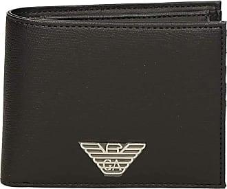 Emporio Armani Armani Mens Faux Leather Coin Wallet One Size Black
