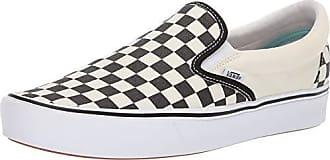 Vans Classic Slip On Platform Schuhe weiß schwarz kariert