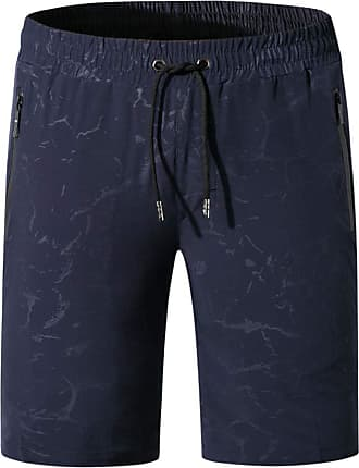 NPRADLA Summer Mens Chino Shorts Mens Holiday Beach Surfing Swimming Quick Dry Running Short Pants Trouses Dark Blue