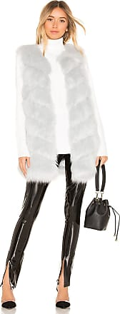Kendall + Kylie Faux Fur Vest in Baby Blue