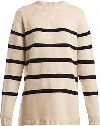 Raey Loose-fit Breton Cashmere Sweater - Womens - Navy Stripe