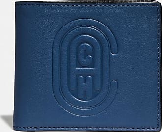Coach Double Billfold Wallet With Patch in Blue