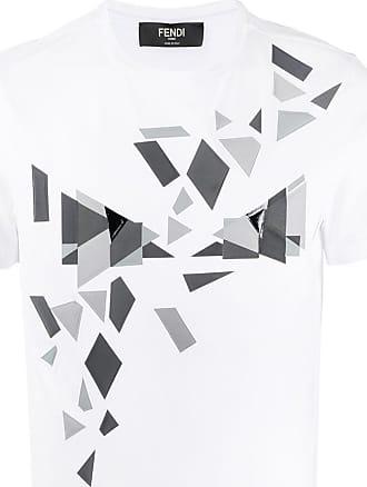 Fendi Camiseta Cubic Eyes - Branco