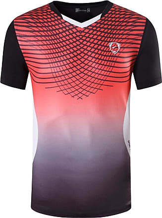 Jeansian Mens Sports Breathable Quick Dry Short Sleeve T-Shirts Tee Tops LSL248 Black XL