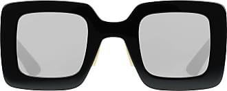 Gucci Óculos de sol quadrado oversized - Preto