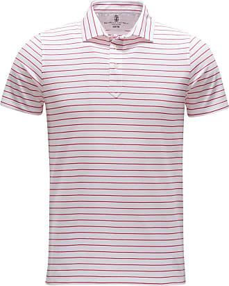 Brunello Cucinelli Poloshirt rot/weiß gestreift bei BRAUN Hamburg