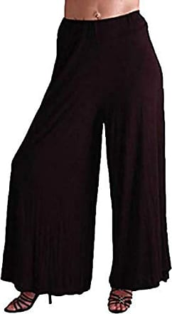 Eyecatch Carly Ladies Trendy Cool Flared Jersey Pants Trousers Black M/L