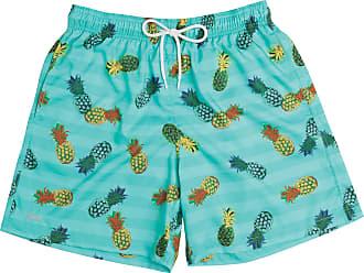 Mash Short Bermuda Estampado Melância e Abacaxi Liso Com Bolso Mash Moda Praia Com Elástico Verão Oferta