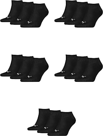 3 pair Puma Sneaker Quarter Socks Unisex Mens & Ladies In 3 Colours, color:black;konfektionsgröße:XL