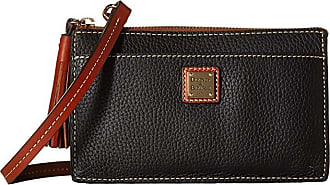 Dooney & Bourke Pebble Gingy Crossbody (Black/Tan Trim) Cross Body Handbags