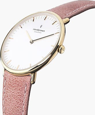 Nordgreen Native - Gold | Pink Leather - 36mm / Gold