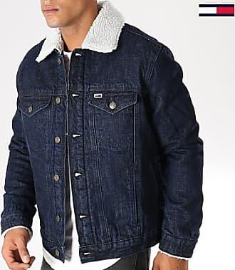 1aa00de109e1 Tommy Jeans Tommy Hilfiger Jeans - Veste Jean Col Mouton Sherpa 5182 Bleu  Denim