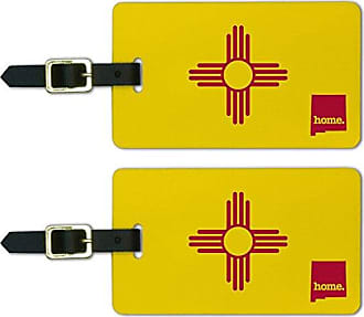 Graphics & More Graphics & More New Mexico Nm Home State Luggage Suitcase Id Tags-Flag, White