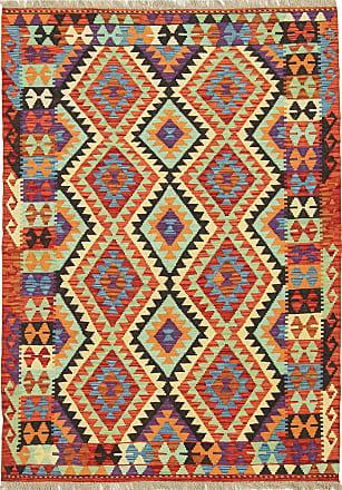 Nain Trading 175x124 Tapis Dorient Kilim Afghan Beige/Olive Verte (Afghanistan, Laine, Tissé à la main)