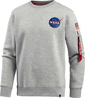 4dff231dc8c8 Alpha Industries NASA Sweatshirt Herren in grey heather, Größe  XXL