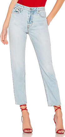 GRLFRND Devon High-Rise Slim in Blue