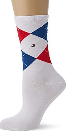 Tommy Hilfiger 2er Pack Damen Women  Socken Farbe sunshine karo Gr.39-42